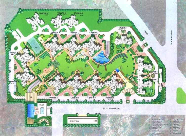 Srs Residency Location Map, Site Plan | Layout Plan